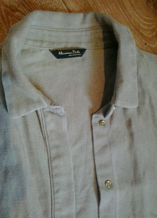 Льняное платье-рубашка massimo dutti оригинал р.s-м