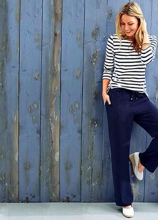 Удобные легкие брюки на резинке в стиле casual от tchibo(германия) размер 42 евро=48