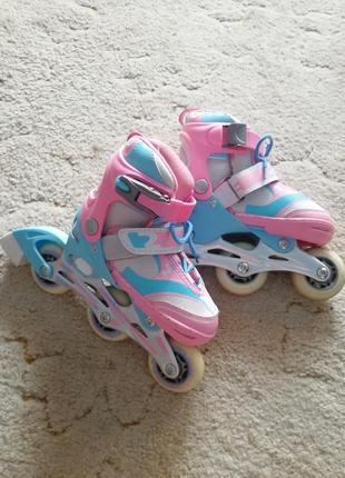 Роликовые коньки девочке  27-30 размер