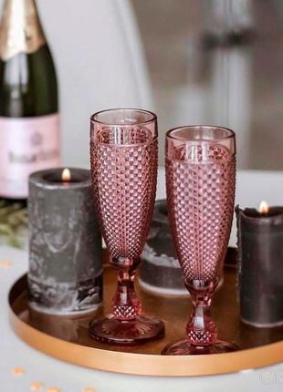 Розовые шампанки