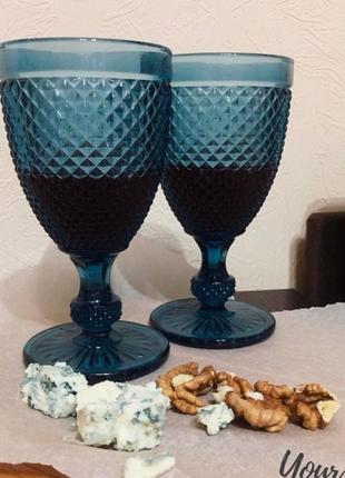 Набор бокалов ds amber blue для вина