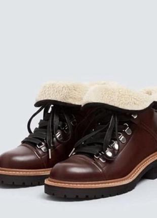Зимние ботинки от pull&bear