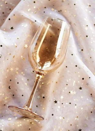 Золотые бокалы для вина