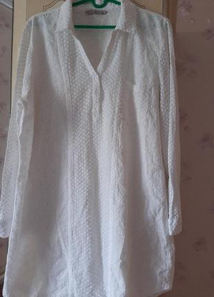 Блуза удлиненная,натуральная