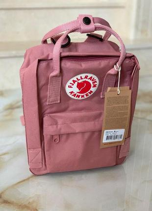 Рюкзак fjallraven kanken mini 7л l pink купить канкен мини розовый
