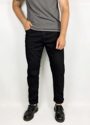 Jack jones зауженные чёрные джинсы