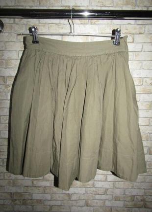 Стильная натуральная юбка р-р xs-s сост новой h&m