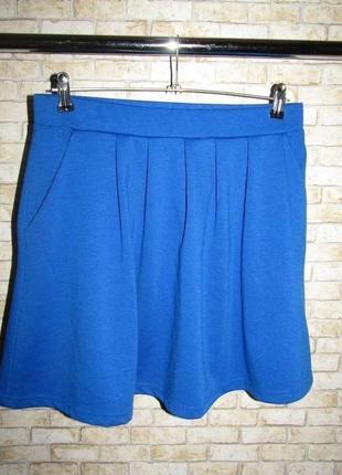 Стильная синяя юбка р-р л-12 сост новых от fb sister