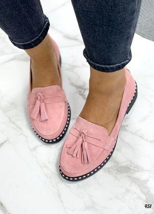 Натуральная замша туфли