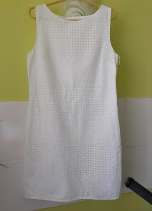 Белое платье прошва вышивка ришелье tu