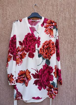 Яркая удлинённая блуза туника soon