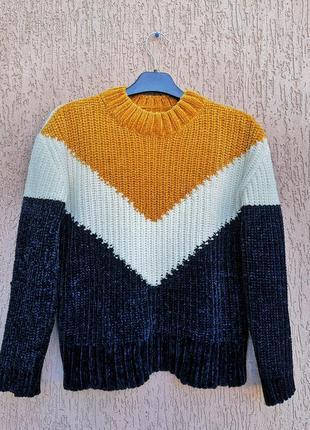 Тёплый плюшевый свитер primark