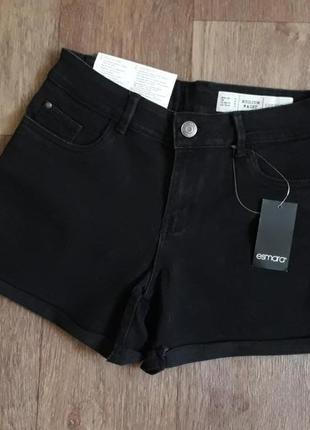 Черные джинсовые шорты esmara германия
