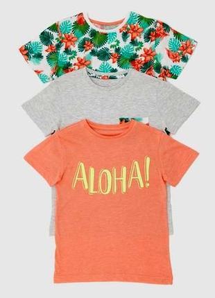 Набор из 3 футболок от dunnes stores на 7-8 лет, англия