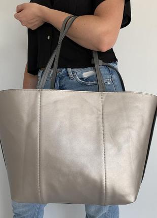 Двухсторонняя сумка-шоппер