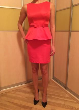Платье с баской!