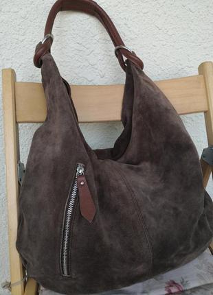 Роскошная большая замшевая сумка ma's que nada, германия🌹🌹🌹❤️👜👜