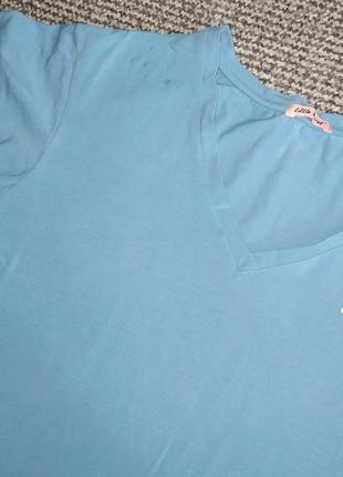 Футболка футболочка новая стильная синяях поло