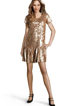 Новое платье twin-set by simona barbieri золотое в пайетках оригинал твин сет