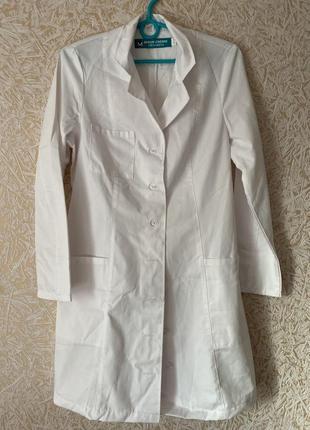 Белый медицинский халат + подарок шапочка