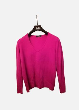 Яркий шерстяной свитер реглан