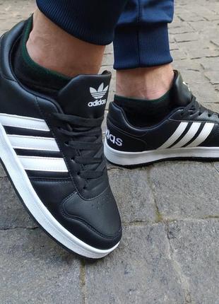 ⚫️мужские кроссовки adidas la marque черные ⚫️