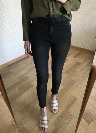 Идеальные джинсы скини на высокой посадке с пуш ап эффектом