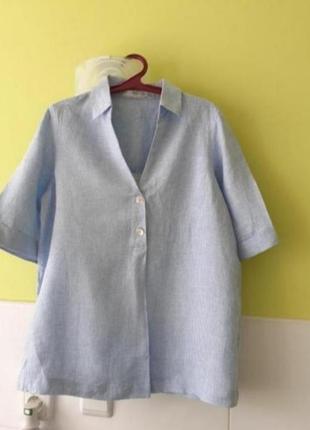 Льняная рубашка от  mango