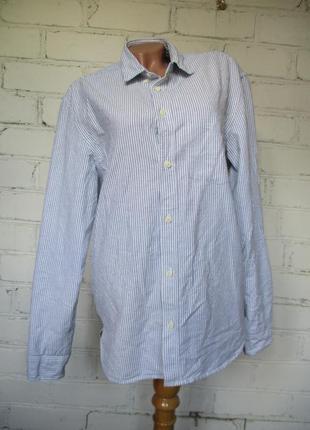 Рубашка хлопковая в полоску/m-l