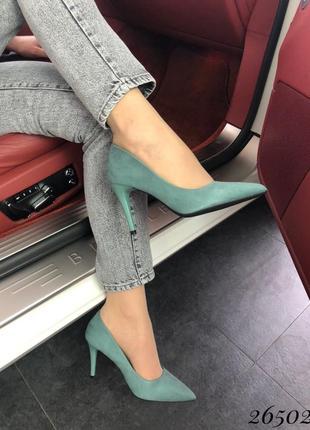Туфли лодочки зелёные