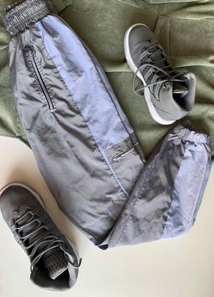 Трендовый болоневые штаны джоггеры на резинке