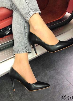 Туфли лодочки чёрные рные