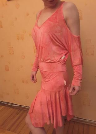 Оргинал! яркий сексуальный  костюм axara франция р. s юбка+блуза