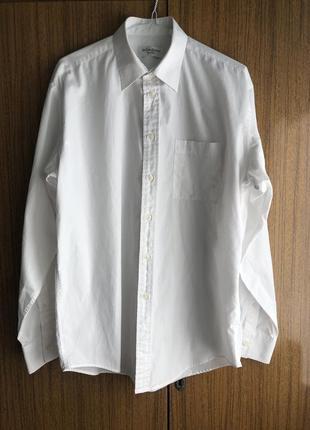 Классическая белая рубашка с карманом от ysl pour bomme