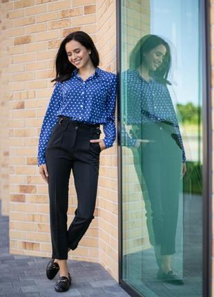 Класичні штани з перетяжками (у 2-х кольорах)