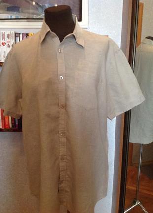 Натуральная льняная рубашка бренда fndm, р. 52-54
