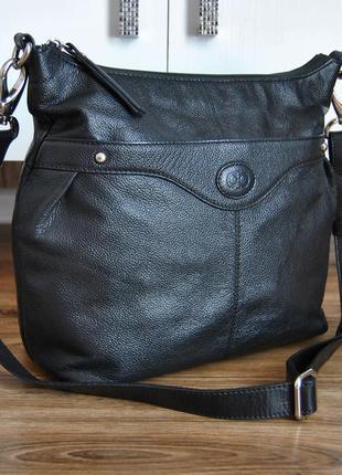 Кожаная сумка debenhams / шкіряна сумка