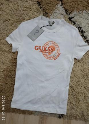 Брендовая базовая футболка guess, с-м (можно меньше) или на подростка