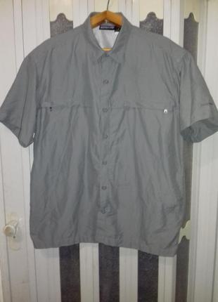 Рубашка patagonia(сша) с коротким рукавом, треккинговая,легкая, быстросохнущая.