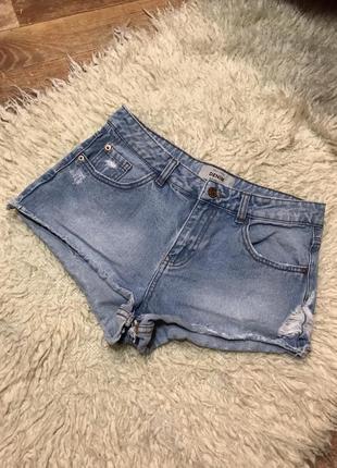 Шорты джинсовые высокая посадка рваные