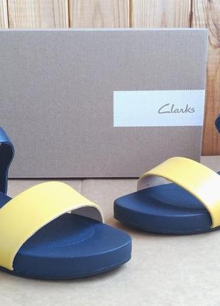 Суперские полностью кожаные стильные сандалии босоножки clarks bright pacey оригинал