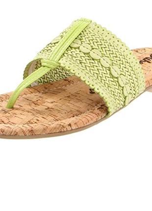 Фирменные кожаные сандалии на пробковой стельке