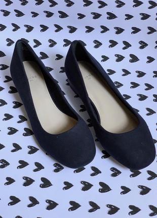 Балетки туфли темно-синие