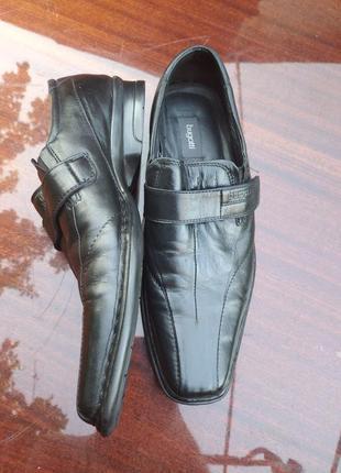 Туфли bugatti из натуральной кожи. германия. р - 41.