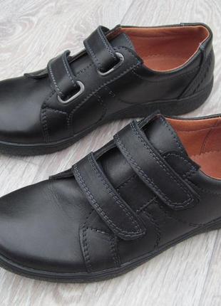 Туфли на липучках для мальчика школа 31--40р3 фото