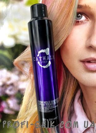 Лак для сильной фиксации защищает волосы  tigi your highness firm hold hairspray 300ml