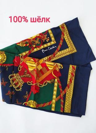 100% шёлк. piere cardin. изумительный платок