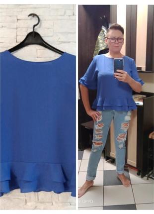 Женская блуза василькового цвета