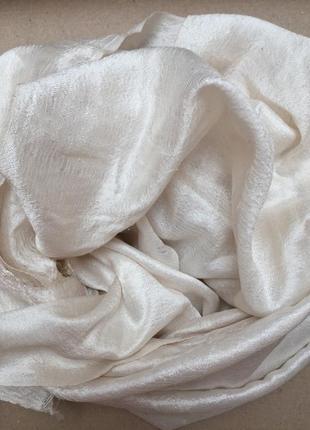 Шикарный шарф из дикого шелка чесуча 75*145