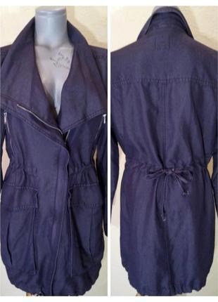 Джинсовое женское пальто,длинная легкая куртка,ветровка,парка